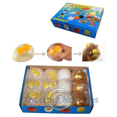Splat Assorted Egg Squishy Sticky Stress Relief Toy Novelty Gift