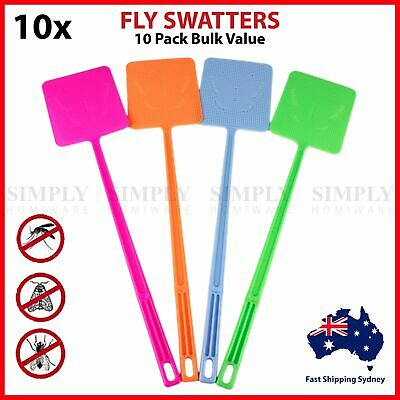 10x Fly Swatter Swat Bulk Insect Killer Bug Mosquito Cockroach Cockroaches