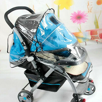 Universal Waterproof Rain Cover Wind Dust Shield For Baby Strollers Pushchairs