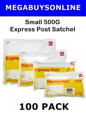 Express Post Small Prepaid Satchel (500g) 100 Pack +Invoice