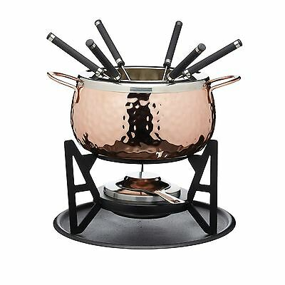 Fondue Set - Copper Finish - Gift Boxed