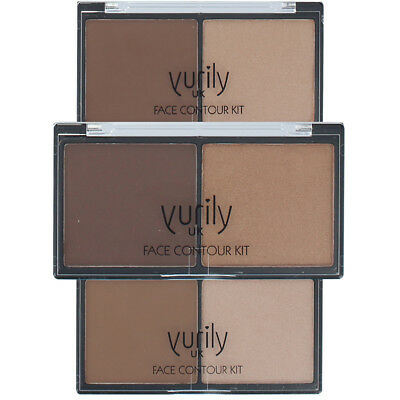 Yurily Face Duo Contour Kit with Bronzer & Highligher