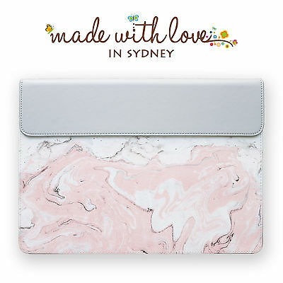 Marble Pink Leather Sleeve Carry Case For Apple Mac Macbook Air Pro 11 12 13
