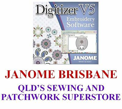 Janome Digitizer Mbx Embroidery Machine Software V5.0