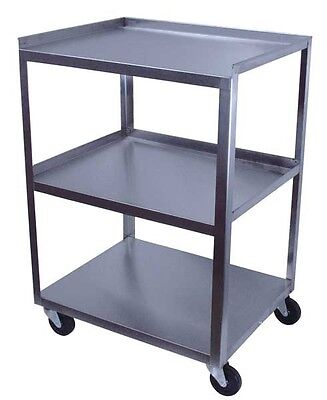 Cart, Stainless, 3 Shelf, 21 in.  NEW, 16x21