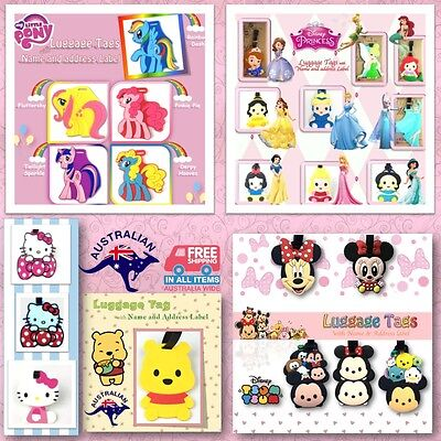 Luggage Baggage School Bag Travel Tag Label Pony Minnie Princess Tsum Tsum Gift