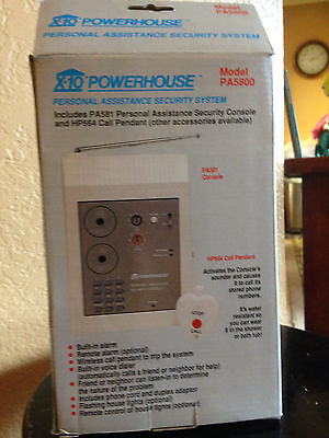 NIB X10 Powerhouse Personal Assistance Security System PA5800 PA581 HP564