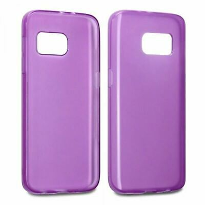 Purple Slim Fitted Rubber TPU Gel Skin Case Cover for Samsung Galaxy S7