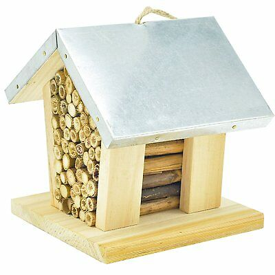Niteangel Mason Bee House Beehive Natural Nesting Honey Insect Home Garden Decor