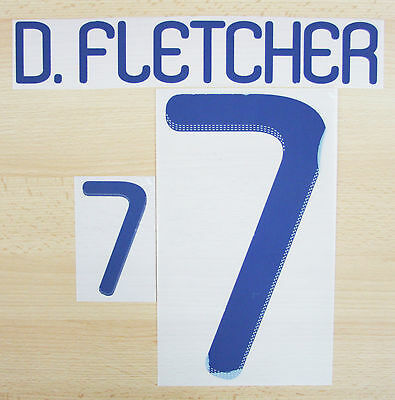 2010 - Adidas Scotland Away Name And Number Set 0 D. Fletcher 7 = Player Size