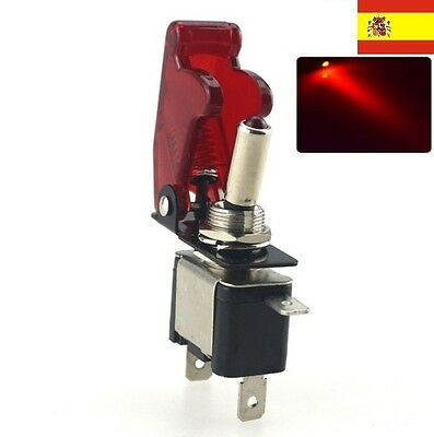 DC 12V 20A LED Rojo Luz Toggle Switch Control del Interruptor ON/OFF Coche