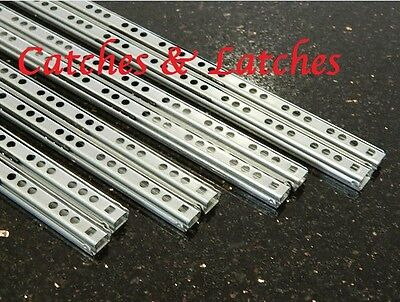 17mm Drawer Runners Ball Bearing Grooved 7 Sizes Metal Kitchen Slides FREE P&P