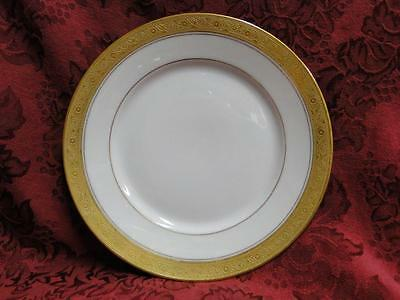 Hutschenreuther HUT99 White with Encrusted Gold, Gold Verge: Salad Plate (s)