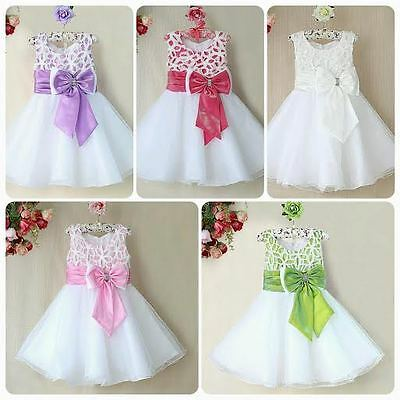 Flower Girls, Bridesmaid Prom Princess Sparkly Party Dress With Bow