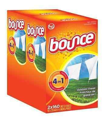 Bounce Fabric Softner Outdoor Fresh Dryer Sheets - 320 Sheets