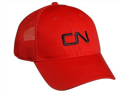 CN Canadian National Railway Ball Cap Hat - Red with Black Logo