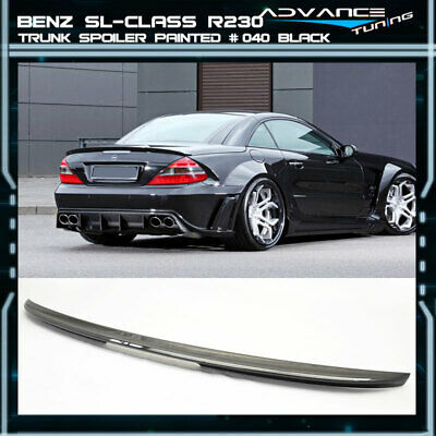 03-11 Benz SL-Class 2Dr R230 ABS Trunk Spoiler OEM Painted Match # 040 Black