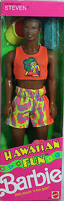 Hawaiian Fun Steven Ken Doll 1990, NRFB Mint w/LN box - 05945