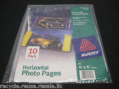 NEW Avery Horizontal Photo 3-Ring Pages / Acid Free / Archival Safe 2 - 10 Pages