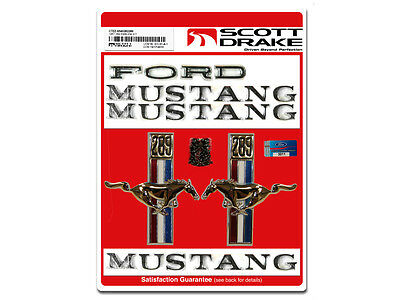 Ford Mustang Badge Emblem Kit 1967 67 289 302 351 5.0 390 Coupe Fastback Convert