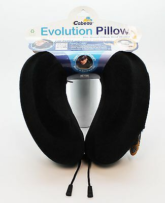 New Cabeau Evolution Pillow - Memory Foam Travel Neck Pillow - Black