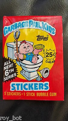 Garbage Pail Kids card pack - Series 6 Unopened - Topps - Bubble Gum - Rare GPK