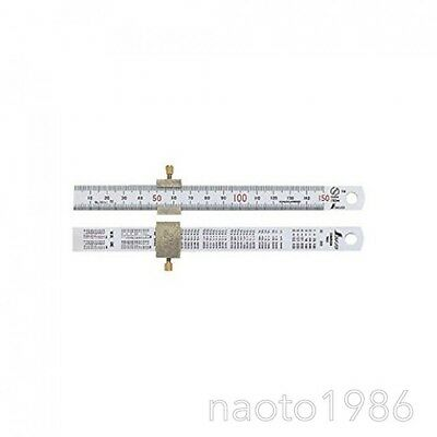 Shinwa 76751 Mini Ruler Scale with Stopper Stainless Steel (F/S+Tracking Number)