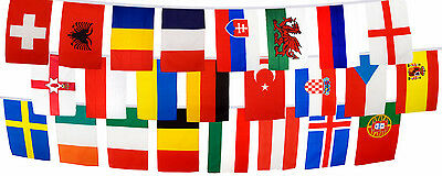 Eurovision European Flag Bunting - 24 Country Euro - 6m 8m 9m Triangle 16m Large