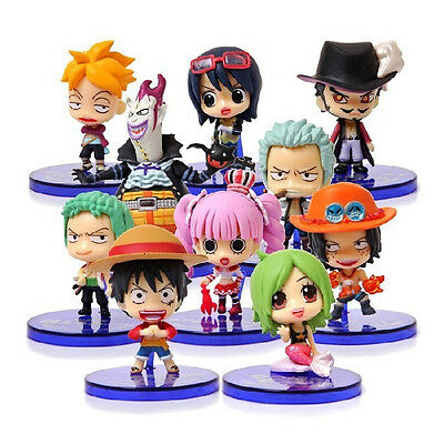 Anime One Piece 2 Years Later Set of 10x 2'' Mini Action Figures PVC Doll Gift