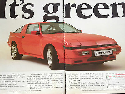 MITSUBISHI STARION 2.6 # ORIGINAL 80,s VINTAGE AUTOMOTIVE ADVERT