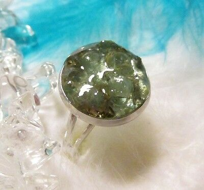 ORGONE Ring with natural APATITE - Energy and Joy of life
