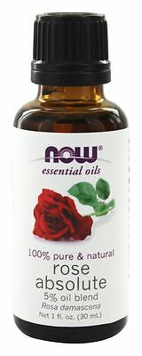 Now Foods Pure Rose Absolute 5% Essential Oil Blend 1oz For Diffusers & Burners