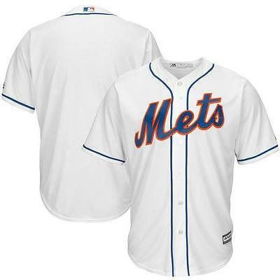 NWT Majestic New York Mets MLB Big & Tall Mens Cool Base Jersey - White