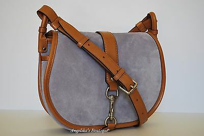 41cfd7fe42d38f NWT MICHAEL KORS Jamie Large Suede Crossbody Bag in Lilac $328 ...