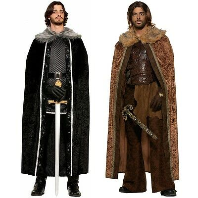 Medieval Costume Cloak Adult Cape Game of Thrones Halloween Fancy Dress