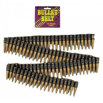 Bullet Belt Bandolier Soldier Commando Navy Seal Military Halloween Costume Acsy