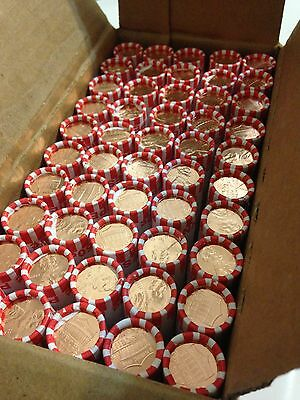 One Box (50 Rolls) 2016-D UNC Penny Rolls, Bank Rolled, Unsearched. Uncirculated