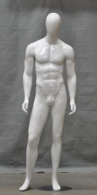 New Quality Male Mannequin Dress Form Muscular#CHM-101 GLOSS WHITE