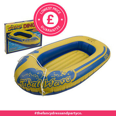 """Childs 45"""" Rubber Boat Dinghy Inflatable Raft Childrens Swimming Pool Beach Toy"""