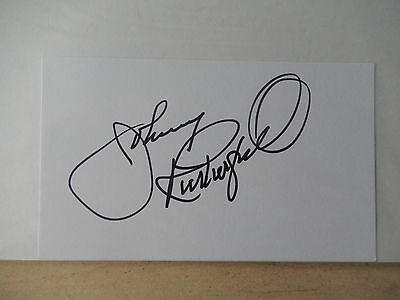 "Johnny Rutherford Autographed 3"" X 5"" Index Card"