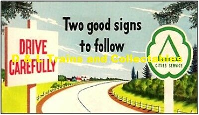 Billboard for Lionel Holder Cities Service Gasoline Two Good Signs