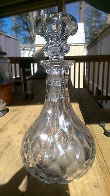 One of a Kind Awesome Antique Cut Glass Decanter