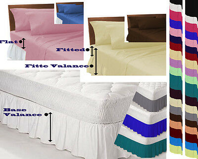 Plain Dyed Sheets Fitted,Flat,Valance,Base Valance Sheets or Pillow cases