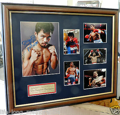 Manny Pacquiao Boxing Champion Signed And Framed Photos Memorabilia