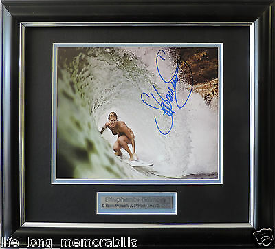 Stephanie Gilmore 6 Times Women's ASP World Tour Champion Signed framed Photo