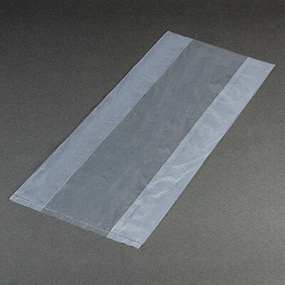 """100 CLEAR BAGS 8 x 4 x 18"""" 2 Mil Gusseted Poly Bags"""