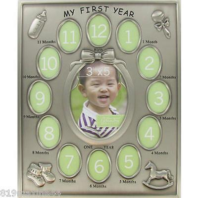 My First Year Frame with 13-Openings new born gift, baby shower, baptismal