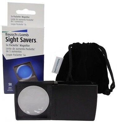 Bausch & Lomb Packette Pocket Magnifier Loupe 5X Free Usa Shipping Coin Jewelry