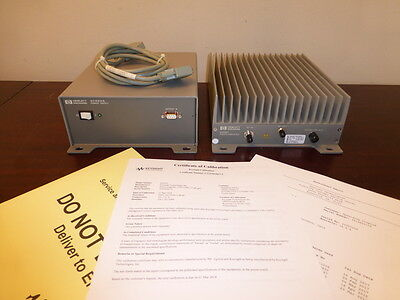 Agilent 83020A & 87422A Microwave System Amplifier w/ Power Supply 2GHz - 26GHz