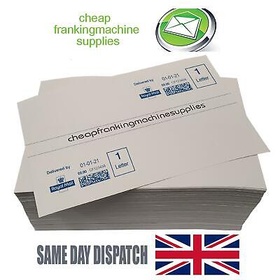 50 Multi-use Franking Labels - DOUBLES for Neopost, Pitney Bowes, FP, Frama